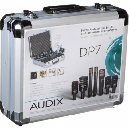 Audix DP7 - Professional Seven Piece Drum Microphone Kit for Recording and Live Sound Reinforcement Product Image 4