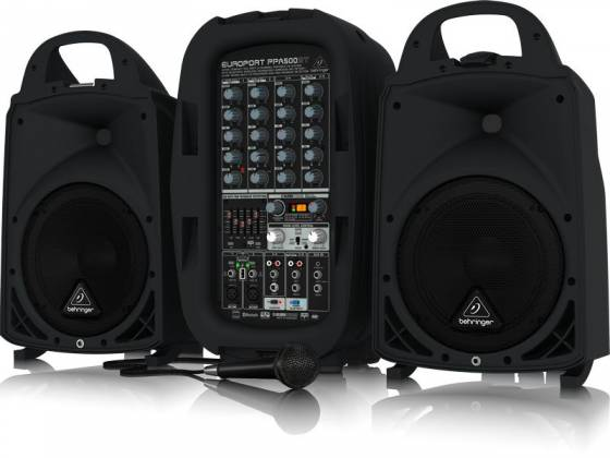 Behringer PPA500BT Europort Series Ultra-Compact 500W 6-Channel Portable PA All In One System with Bluetooth Product Image 2