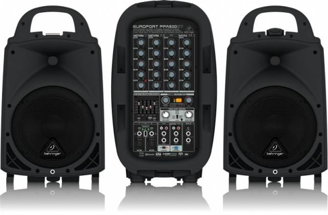 Behringer PPA500BT Europort Series Ultra-Compact 500W 6-Channel Portable PA All In One System with Bluetooth Product Image 3