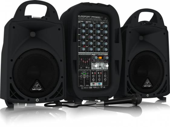 Behringer PPA500BT Europort Series Ultra-Compact 500W 6-Channel Portable PA All In One System with Bluetooth Product Image 7
