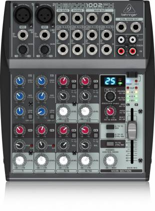 Behringer 1002FX Xenyx Series Premium 10-Input 2-Bus Mixer with British EQs and Multi-FX Processor Product Image 3