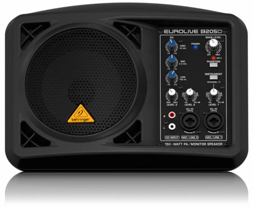 Behringer B205D Ultra Compact 150W PA/Monitor All in One Speaker System Product Image 2