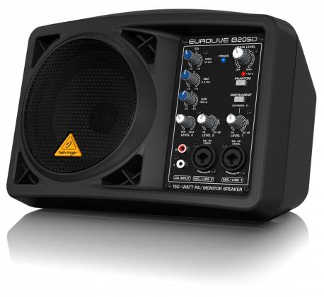 Behringer B205D Ultra Compact 150W PA/Monitor All in One Speaker System Product Image 5