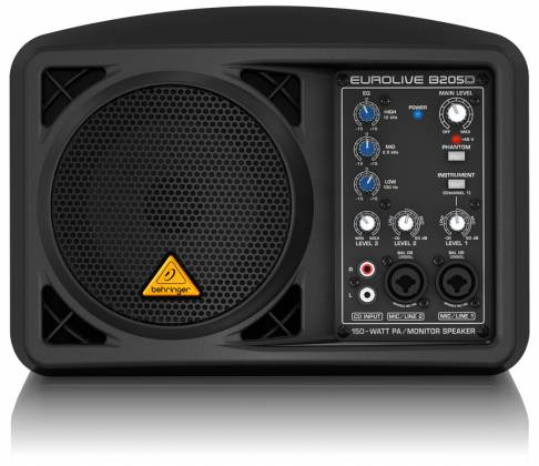 Behringer B205D Ultra Compact 150W PA/Monitor All in One Speaker System Product Image 6