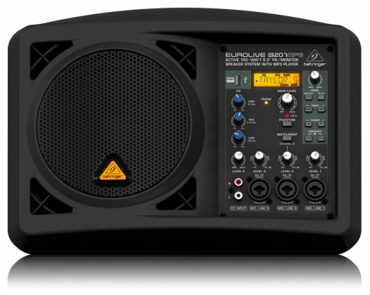 """Behringer B207MP3 Eurolive Series Active 150W 6.5"""" PA/Monitor All in One Speaker System with MP3 Player b-207-mp-3 Product Image 2"""