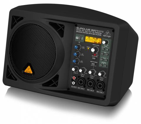 """Behringer B207MP3 Eurolive Series Active 150W 6.5"""" PA/Monitor All in One Speaker System with MP3 Player b-207-mp-3 Product Image 5"""