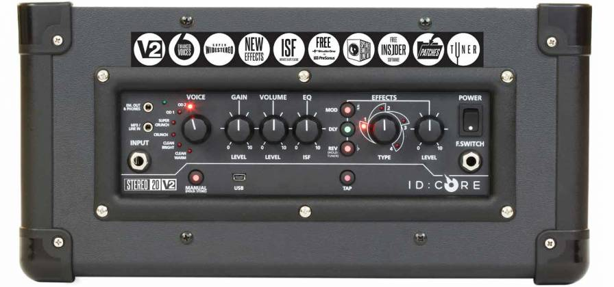 Blackstar ID:CORE 20 V2 - 20 Watt Stereo Combo Amplifier with PreSonus One Recording Software Product Image 5