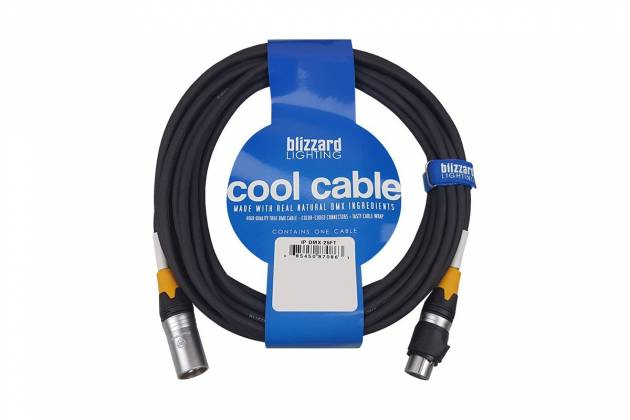 Blizzard DMX-IP-25Q Cool Cables IP 25' 3-Pin XLR 22 Gauge DMX Cable Product Image 4