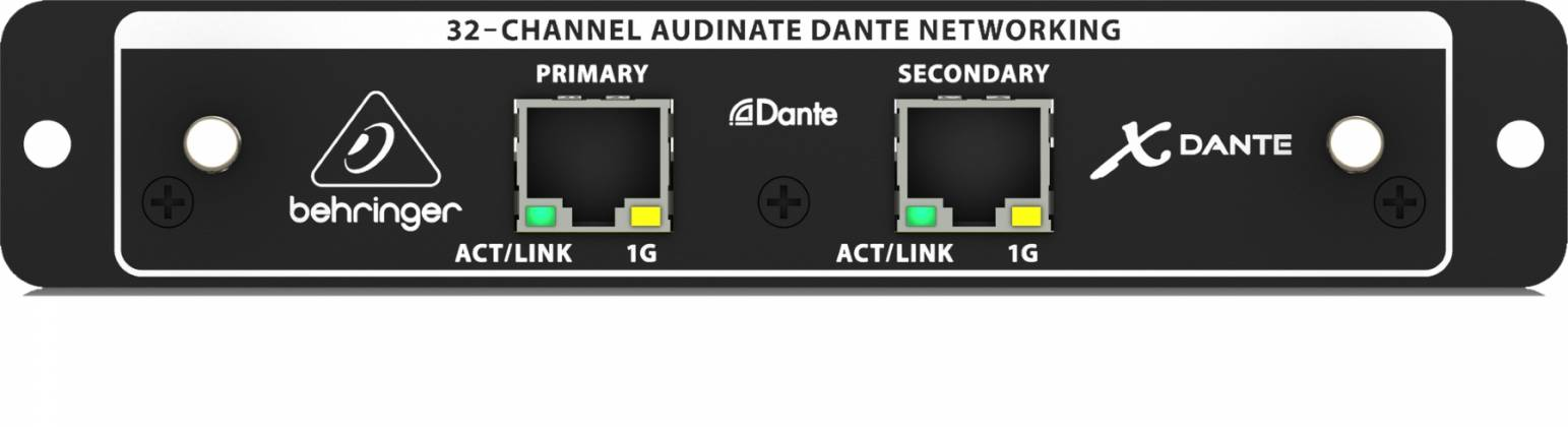 Behringer X-DANTE 32-Channel Expansion Card For X32 Digital Mixing Console x-dante Product Image 4