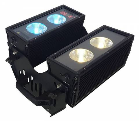 Blizzard BLOK 4 IP Outdoor Rated 4 25W RGBAW COB LEDs Dual Bar Light with Anyfi Wireless DMX Product Image 2
