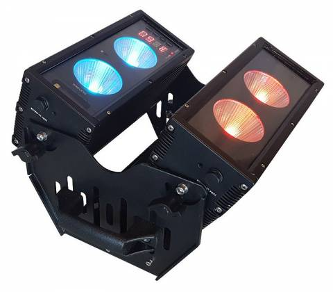 Blizzard BLOK 4 IP Outdoor Rated 4 25W RGBAW COB LEDs Dual Bar Light with Anyfi Wireless DMX Product Image 12