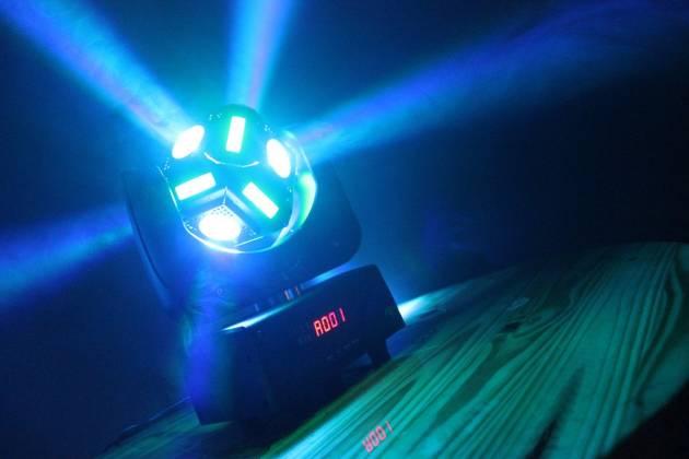 "Blizzard SNAKE EYES MINI ""Fun Sized"" 6 CREE 10W RGBW LED Cube Moving Head Light Product Image 3"