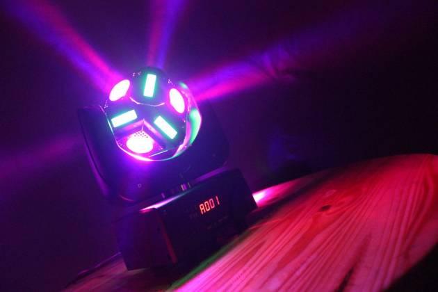 "Blizzard SNAKE EYES MINI ""Fun Sized"" 6 CREE 10W RGBW LED Cube Moving Head Light Product Image 4"