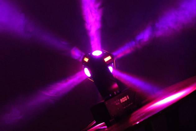 "Blizzard SNAKE EYES MINI ""Fun Sized"" 6 CREE 10W RGBW LED Cube Moving Head Light Product Image 7"