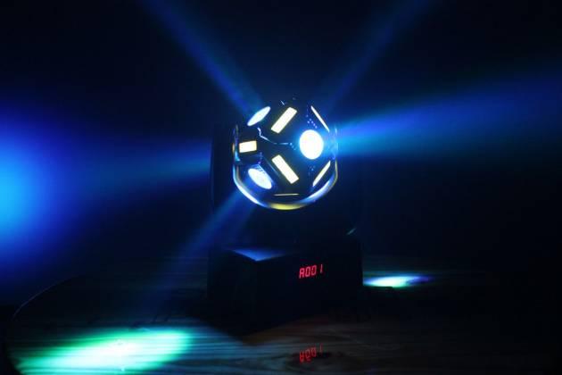"Blizzard SNAKE EYES MINI ""Fun Sized"" 6 CREE 10W RGBW LED Cube Moving Head Light Product Image 8"