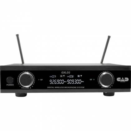 CAD Audio GXLD2HBAH Digital Dual-Channel Wireless Microphone System with Handheld and Bodypack Transmitters (AH: 902.9 to 915.5 MHz) Product Image 2