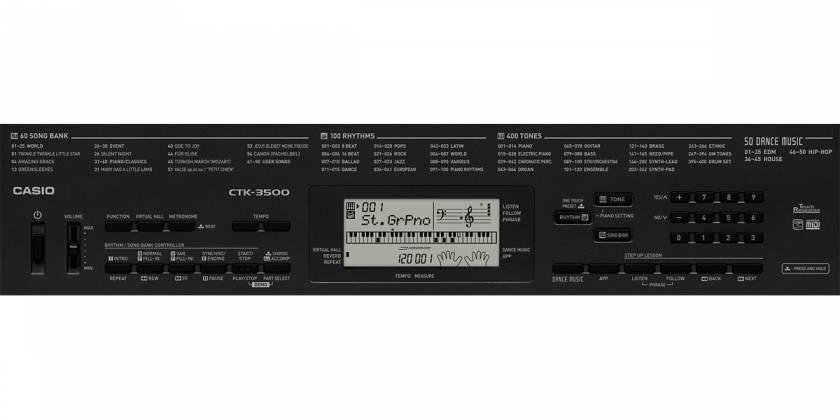 Casio CTK3500 61 Key Portable Electronic Keyboard Product Image 7