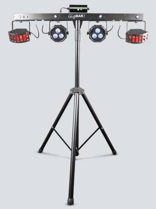 Chauvet DJ GigBAR 2 All inclusive 4-in-1 Lighting Package with 2 Wash Lights, 2 Derby Lights, a Laser, 4 Strobe Lights gig-bar-2 Product Image 7