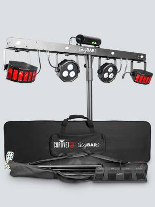 Chauvet DJ GigBAR 2 All inclusive 4-in-1 Lighting Package with 2 Wash Lights, 2 Derby Lights, a Laser, 4 Strobe Lights gig-bar-2 Product Image 3
