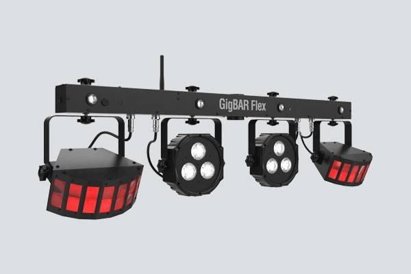 Chauvet DJ GIGBAR-FLEX Ultra Convenient 3-in-1 Pack and Go Lighting System with Wireless Control Product Image 2