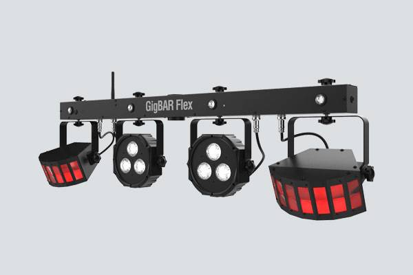 Chauvet DJ GIGBAR-FLEX Ultra Convenient 3-in-1 Pack and Go Lighting System with Wireless Control Product Image 4