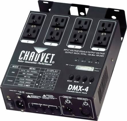 Chauvet DJ DMX4 2.0 Four Channel Dimmer/Relay Pack  Product Image 2