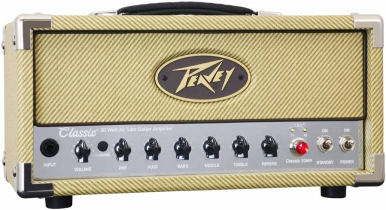 Peavey 03614150 CLASSIC 20 MH 20W/5W/1W Tube Guitar Amplifier Head with 2 Channels Product Image 2