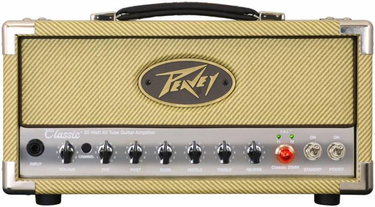 Peavey 03614150 CLASSIC 20 MH 20W/5W/1W Tube Guitar Amplifier Head with 2 Channels Product Image 4