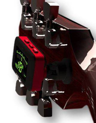 Clingon Magnetic Tuner Lava Red Cling On Magnetic Instrument Tuner Product Image 11