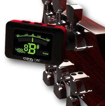 Clingon Magnetic Tuner Lava Red Cling On Magnetic Instrument Tuner Product Image 12