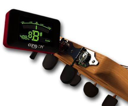 Clingon Magnetic Tuner Lava Red Cling On Magnetic Instrument Tuner Product Image 5