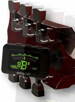 Clingon Magnetic Tuner Titanium Grey Cling On Magnetic Instrument Tuner Product Image 2