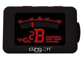 Clingon Magnetic Tuner Titanium Grey Cling On Magnetic Instrument Tuner Product Image 11