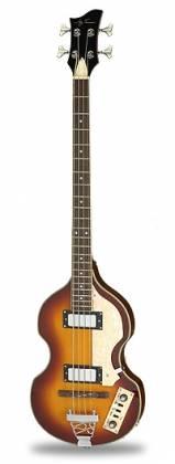 Jay Turser JTB-2B-VS Beatle Bass 4 String RH Acoustic Electric Bass Guitar Product Image 2