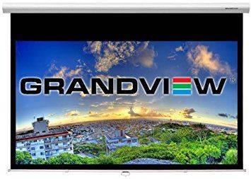"Grandview CB-P 94 Cyber Series Commercial Designer 94"" Manual Pull-Down Screen 16:10 Format White Casing Product Image 5"