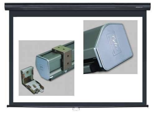 Grandview GV-CMA092 CB-P 92 Cyber Series Commercial Designer Manual Pull-Down Screen 16:9 Format Black Casing Product Image 6