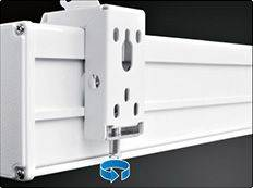 "Grandview CB-P 94 Cyber Series Commercial Designer 94"" Manual Pull-Down Screen 16:10 Format White Casing Product Image 7"