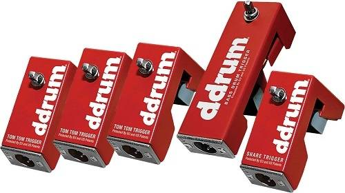 DDrum AP TOUR PACK 5-Piece Acoustic Pro Trigger Set with Cables Product Image 3