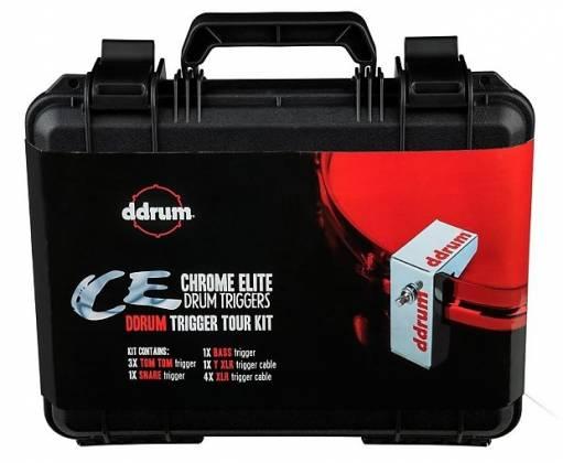 DDrum CE Tour Pack 5-Piece Chrome Elite Trigger Set with Cables Product Image 3