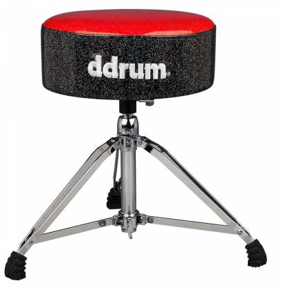DDrum MFAT RB Mercury Fat Drum Throne-Red and Black Product Image 2