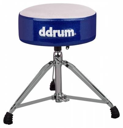 DDrum MFAT WB Mercury Fat Drum Throne-White and Blue Product Image 2