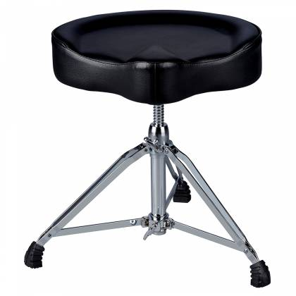 DDrum MSTT BLK Mercury Saddle Drum Throne-Black Top Product Image 2