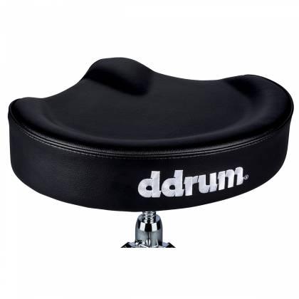 DDrum MSTT BLK Mercury Saddle Drum Throne-Black Top Product Image 3