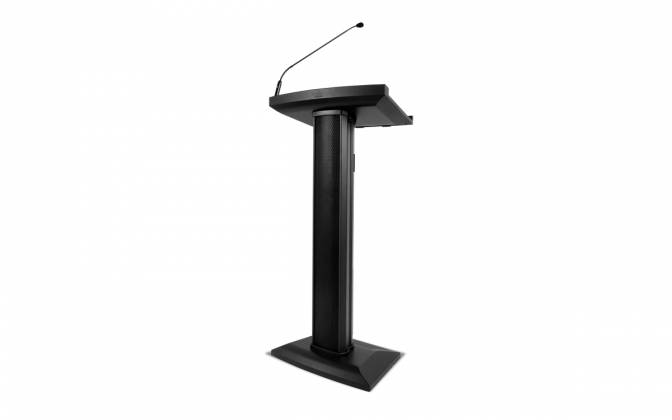Denon Pro LECTERN ACTIVE Lectern with Active Speaker Array in Black Product Image 2