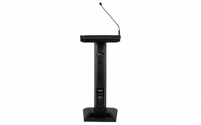 Denon Pro LECTERN ACTIVE Lectern with Active Speaker Array in Black Product Image 4