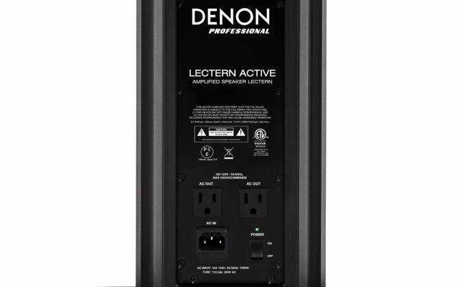 Denon Pro LECTERN ACTIVE Lectern with Active Speaker Array in Black Product Image 9