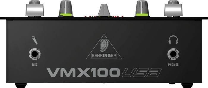 Behringer VMX100USB 2 Channel USB DJ Mixer Product Image 4