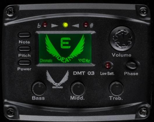 Dean EAB CBK 4 String RH Acoustic-Electric Bass - Classic Black Product Image 6