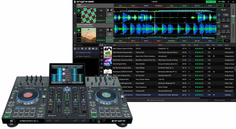 """Denon DJ Prime 4 Standalone 4 Deck DJ System with 10"""" Touchscreen Product Image 3"""