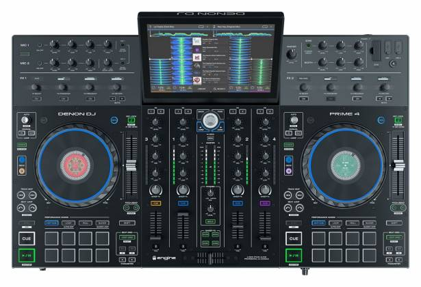 """Denon DJ Prime 4 Standalone 4 Deck DJ System with 10"""" Touchscreen Product Image 4"""